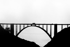 Let's Head on Up the Coast (Thomas Hawk) Tags: bixbycreekbridge california highway1 usa unitedstates unitedstatesofamerica bridge bw fav10 fav25 fav50 fav100