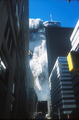 Terrorist attack on World Trade Center, NYC, 9/11/01. (WTCDamageFiresCollapsesDebris) Tags: 2001 911 nyc newyorkcity september11 usa wtc worldtradecenter editorial news photojournalism terrorism terroristattack thetwintowers newyork
