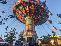 one final twirl (pbo31) Tags: bayarea california color july 2017 summer boury pbo31 eastbay alamedacounty iphone7 alamedacountyfair midway ride spin spinninglights motion bluepleasanton swings twirl octoberfest