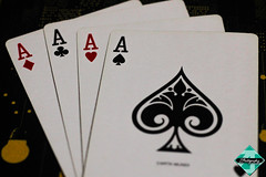 The Deadly Aces (shamahzoha) Tags: games indoor cards poker aces diamond club spade heart hand deadly colors shapes white black red stacked vibrant