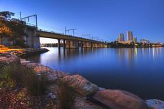 Morning Blue (satochappy) Tags: dawn morning sunrise river riverside bluehour