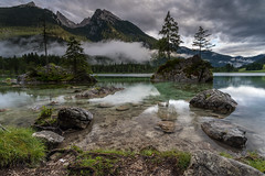 Lake Hintersee (Mika Laitinen) Tags: canon5dmarkiv europe germany hintersee leefilters calm cloud colorful lake landscape longexposure mountain nature reflection rock sky summer sunset tree water ramsaubeiberchtesgaden bayern de