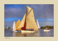 Maldon, Essex (Andy Gant) Tags: maldon essex england uk riverblackwater maldonprom boats boat sails sailing colours colors water riverside river sky photographicart textures texture brushstrokes painterly