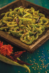 Sesame snake gourd (Akhil G) Tags: kitchen india andhra telugu veg food indian cuisine recipe culinary sweet sour vegetable stew canon 100mm photography