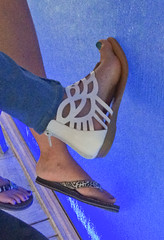 IMG_0401 (heellover91) Tags: strappy leather thong sandals sexy girl foot woman feet shoes gladiator toes arch