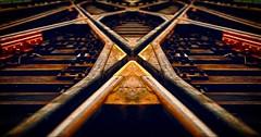 """Cross Roads"" (36D VIEW) Tags: cosina 28mm sony mirrorless a6000 x cross roads train tracks rails vintage lenses"