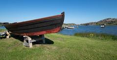Dry Boat (juliolunap) Tags: outdoors archipielago nature goteborg gothemburg sweden sverige bluesky blue water islands island aspero
