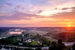 Kiev sunset (meleshko.alex) Tags: europe ukraine kiev sun sunset goldenhour gold golden sky clouds colors landscape hdr areal fujifilm fuji xt1