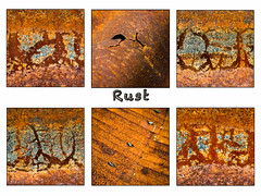 Rust (Sylvia Slavin ARPS (woodelf)) Tags: rust rusty corrugated iron details abstracts patterns crusty gritty grungy