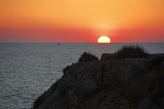 Sunset over cliff (petrk747) Tags: menorca balearicislands spain mediterraneansea balearicsea cliff reef sunset sunrise sun sea trveling voyage outdoor dreaming dream spring calaenfocat ciutadella