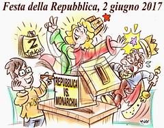 """2 Giugno 2017 - Festa della Repubblica (Moise-Creativo Galattico) Tags: editoriali moise moiseditoriali """"editorialiafumetti"""" giornalismo attualità satira vignette 2giugno festa repubblica italia"""