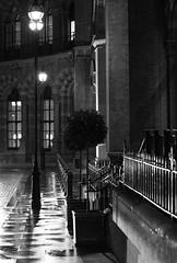 St. Pancras Station, London, England, UK (Plan R) Tags: monochrome blackandwhite dark pancras station london uk entrance rain leica m 240 noctilux 50mm