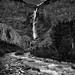 The Falling Waters of Takakkaw Falls (Black & White, Yoho National Park)
