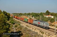 3333333333333 (Trenesmania) Tags: tren trenes train trains raiway ferrocarril mercancías teco contenedores intermodal locomotora vagon 333 333333 diésel vossloh euro3000 lowcostrail lcr valencia puerto bilbao lametllademar