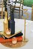 Oasis Wedding 96 (joyagarris) Tags: tablearrangment wedding sundara gold navy bottles votives book bottle 3 opalswedding