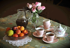 Tè in rosa (Melisenda2010) Tags: naturamorta stilllife estate tènero roselline coth