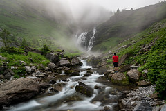 Contemplation (Frédéric Pactat) Tags: nikon d750 afs ed fx d 750 20 mm f 18 f18 nikkor 20mm f18g waterfall river torrent stream selfportrait long exposure cascade haute savoie sixt fer à cheval mist mountains rocks alps hiking randonnée