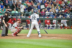 Cano at bat (hj_west) Tags: baseball philadelphiaphillies seattlemariners safecofield mlb interleague stadium night sports