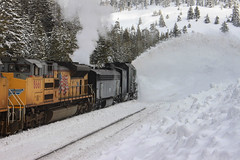 "Plowing the ""Sierra Cement"" (ScholzRUNNER) Tags: rotarysnowplow spmw207 sd70ace unionpacificrailroad uprr snowblower sodasprings sp espee california donnerpass"