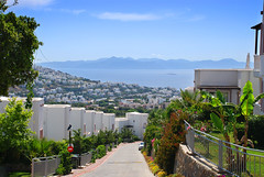Hill Overlooking Spanish Town (adampanoramic) Tags: road town holiday villas vacation sun ocean