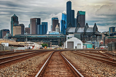 SoDo Mojo (Ian Sane) Tags: ian sane images sodomojo south of downtown seattle washington railroad tracks safeco field landscape photography canon eos 5d mark ii two camera ef70200mm f28l is usm lens