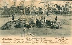 Aboriginal graves in Western Australia  - 1905 (Aussie~mobs) Tags: australia aborigine native indigenous vintage 1905 westernaustralia grave burial aussiemobs