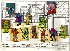 1990 Goldcrest Muesli Teenage Mutant Ninja Turtles Sticker Set - New Zealand (NZCollector) Tags: new zealand packaging kiwiana tmnt cards trading stickers collectibles collectables trade bubblegum