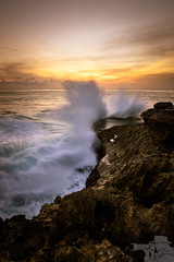 Crash (djflexkid) Tags: outdoor crash landscape sunset bali nature water things rocks seascape sea indonesia places waves
