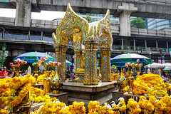 Erawan Temple in Bangkok, Thailand (phuong.sg@gmail.com) Tags: ambient asia atmosphere attraction bangkok behind believe brahma buddhist celebration city color colorful decoration erawan face faith famous flowers four god gold golden hindu holy incense landmark people phra phrom powerful prayer prepares ratchaprasong religion sacred shrine smoke statue symbol temple thai thailand tourist visit worship yellow