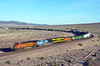 BNSF 7438 - Ludlow CA - 01/04/14 (RockAndRail) Tags: bnsf ludlowca heritage mp up ns norfolksouthern unionpacific virginian missouripacific sd70ace es44dc train colorful railroad desert mojavedesert virginianheritage up1983 ns1069