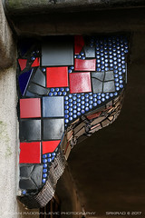 Motley support (srkirad) Tags: column wall support hundertwasser vienna travel austria landmark closeup colorful vivid patches