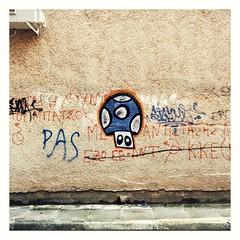 The mushroom (PattyK.) Tags: graffity mushroom ioannina giannena giannina epirus ipiros balkans hellas ellada europe europeanunion greece grecia griechenland wallart streetart whereilive neighbourhood ιωάννινα mycity urban ήπειροσ ελλάδα βαλκάνια ηπόλημου γκράφιτυ γκράφιτι ευρώπη τοίχοσ