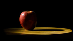 Apple In Shadows (Just a Girl and a Camera) Tags: apple apples red lightandshadows shadow naturallight food freshfruit fruit nikond3200 nikon