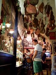 Ham Heaven - Trastevere/Rome (mikehaui60) Tags: olympuspenepm2 pen epm2 mft trastevere butcher ham streetphotography peoplephotography rome italy nightphotography