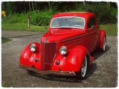 A Very Red Ford (e r j k . a m e r j k a) Tags: pennsylvania robinson ride classic vintage 1936 ford red erjk