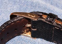 Macro Mondays: Bottoms up (f8shutterbug) Tags: idb macromondays bottomsup macro strap leather watch