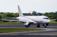 CityJet SSJ-100 EI-FWB. 08/07/17. (Cameron Gaines) Tags: cn 95108 first flew knaapo 15th january 2016 using test registration 97016 the aircraft was registered sukhoi international early june ipdvw flown venice for cabin fitting painting finally delivered cityjet 1st july eifwb current 17 superjet su10095b exiting 23r bravo after arriving from brussels have leased 4 airlines two livery 080717 trees man egcc manchester greater england aviation airliner russian taxiway viewing park cockpit crew britain europe italy ssj