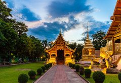 Buddhist temple in Chiang Mai (Evgeny Ermakov) Tags: asia asian buddha chiang chiangmai mai thai thailand watphrasingh watphrasinghworamahaviharn ancient architecture blue bluehour buddhism buddhist buddhistic chedi cloud clouds culture cultures destination famous gold golden green holy iconic landmark landscape nature old park phra religion religious singh site sky spirituality statue structure stupa sunset temple tourism touristic traditional travel typical wat woramahaviharn
