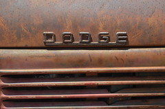 Rusty Dodge (earthdog) Tags: 2017 nikon nikond5100 d5100 2802000mmf3856 kelleypark sanjose historypark sanjosehistorypark walkingdistance car carshow word badge dodge rust texture 18200mmf3563