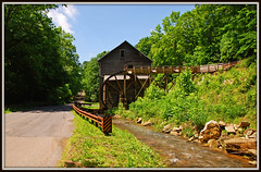 BUSH MILL - Explore 241 (Jerry Jaynes) Tags: bushmill grist mill virginia va gristmill river nickelsville waterwheel guardrails raceway watertrough riverrocks trees nikkor1685vr tripodphotography
