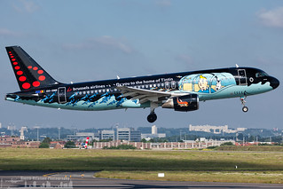 OO-SNB Brussels Airlines Airbus A320-214 painted in Tintin special colours (BRU - EBBR)