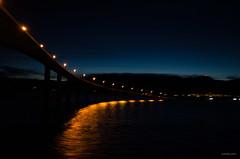 Hadselbrua at Night (Joko-Facile) Tags: bridge brücke hadselbridge hadselbrua hurtigruten licht light mslofoten nacht nachtaufnahme night nightshot nordland norway norwegen stokmarknes unscharf unsharp vesterålen winter no