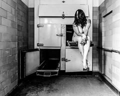 Entreat us tenderly (sadandbeautiful (Sarah)) Tags: me woman female abandoned self selfportrait bw morgue