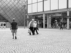 two, one, two two (sasastro) Tags: streetphotography candid mono burystedmunds thearc pentaxk5iis negativespace