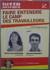 Anne-Laure Chaudon (emmanuelsaussieraffiches) Tags: affiche politique political poster lutteouvrière
