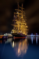 Stad Amsterdam Boat (Domi Art Photography) Tags: boat boats yacht voile voilier mer sea ocean seascape night view nightscape autofocus