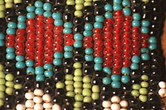 Cree beadwork (Kens images) Tags: aboriginal cree historic beadwork colour sacred