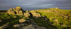 Letterboxed (http://www.richardfoxphotography.com) Tags: dartmoor sunset holwelltor haytor stormclouds granite rocks tor outdoors