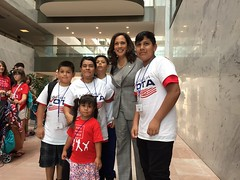Senator Kamala Harris and members of Mi Famila Vota