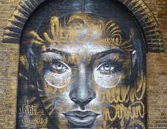 Stone Lady (ArtGordon1) Tags: walthamstow london england uk e17 davegordon davidgordon daveartgordon davidagordon daveagordon artgordon1 streetart graffiti bricks artwork art woodstreetstation arches